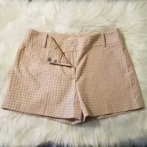 Ann Taylor Loft Pink and Tan Shorts